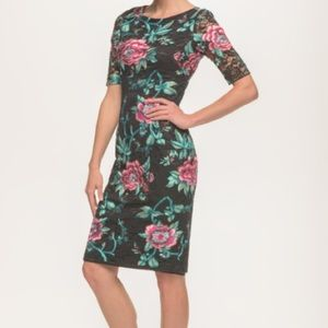 Eliza j floral embroidered bodycon lace dress